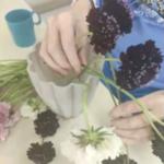 סידור פרחים עם דיירים